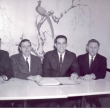 1966. L to R: ?. Gene Gehri-Bedford Ht\'s FD. ?. Ed Prasek-Solon FD. Help us out. Can you name any of these founding fathers from circa 1966. Email dpaullin@neofpa.org with names/departments.